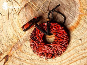 dread hair tie - red